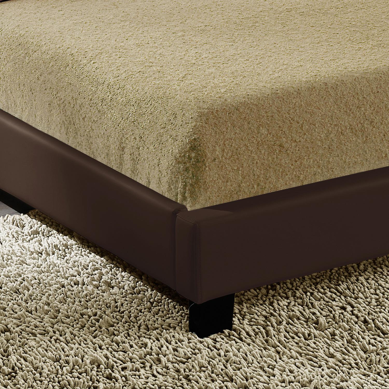 led upholstered bed 140 160 180 200x200 cm double bed wedding bed frame ebay. Black Bedroom Furniture Sets. Home Design Ideas