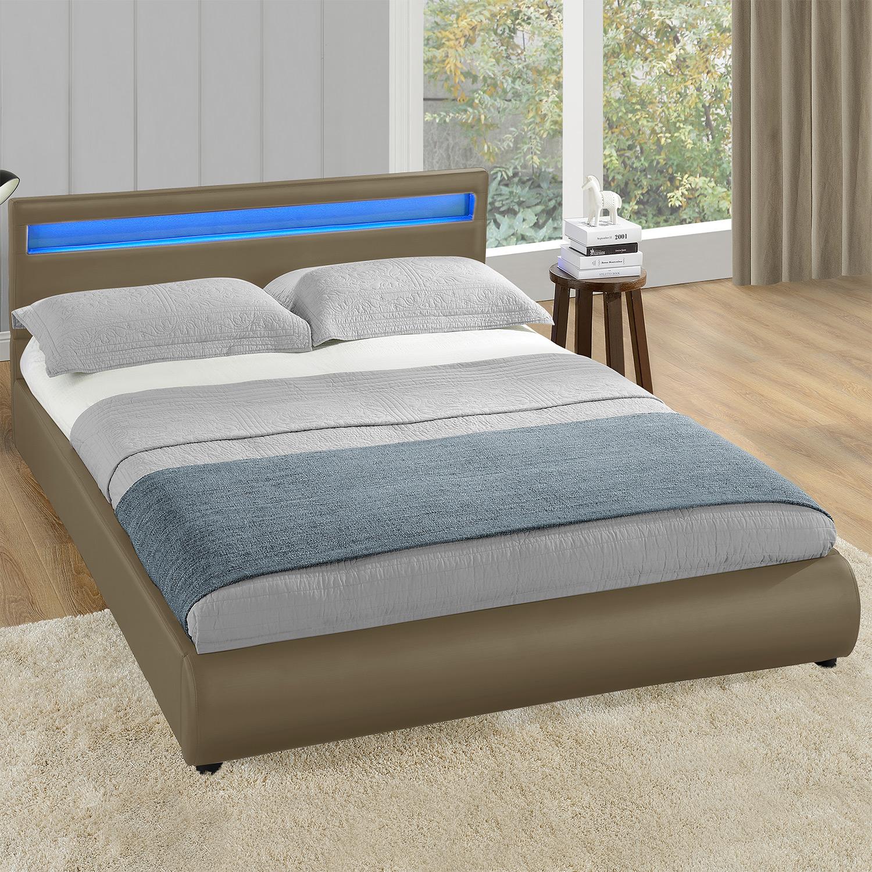 corium led polsterbett 140 160 180x200cm kunst leder bett schwarz wei grau rot ebay. Black Bedroom Furniture Sets. Home Design Ideas