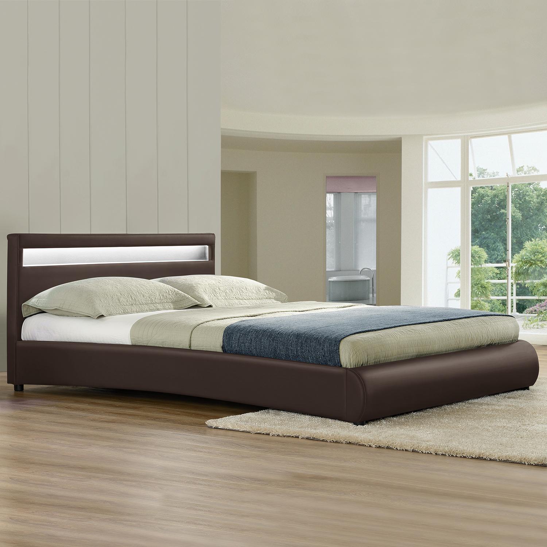 corium led polsterbett 140 160 180 x 200cm doppel ehe bett schwarz wei grau ebay. Black Bedroom Furniture Sets. Home Design Ideas