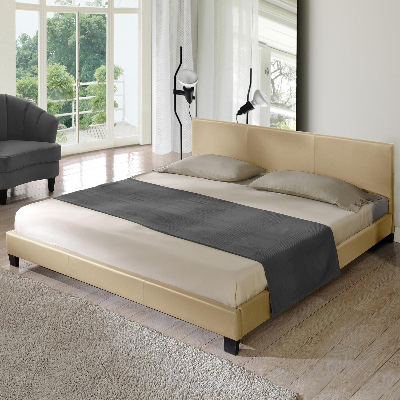 design polsterbett 140 160 180 200 x 200 cm doppel ehe bett gestell kunst leder ebay. Black Bedroom Furniture Sets. Home Design Ideas