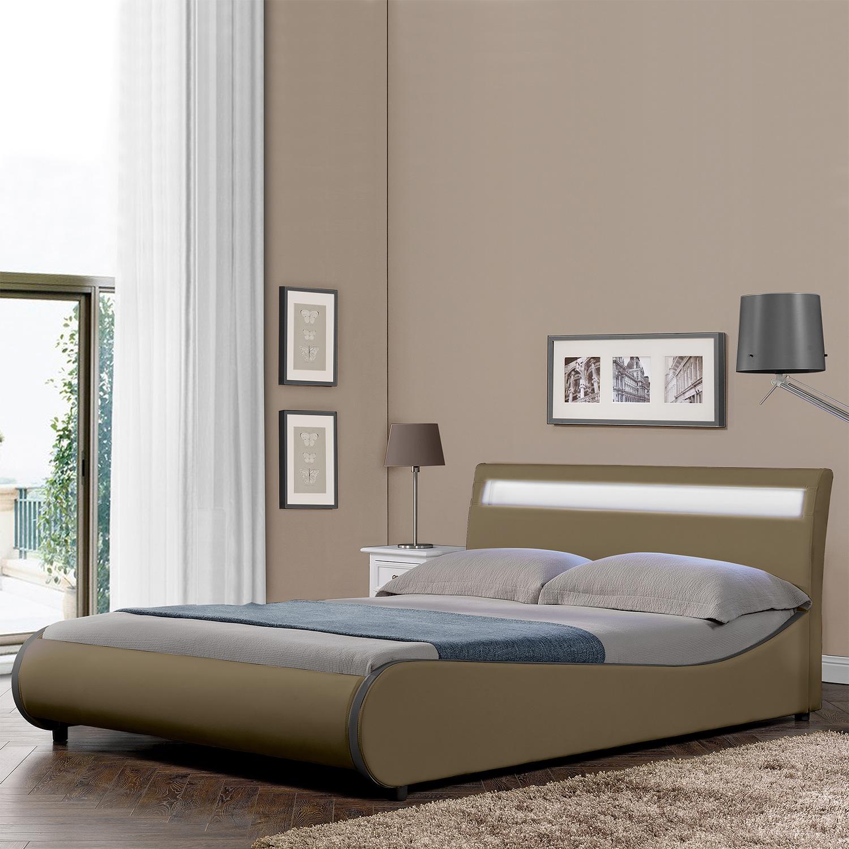 corium design led polsterbett 140 180 x 200 cm kunst leder doppel ehe bett ebay. Black Bedroom Furniture Sets. Home Design Ideas