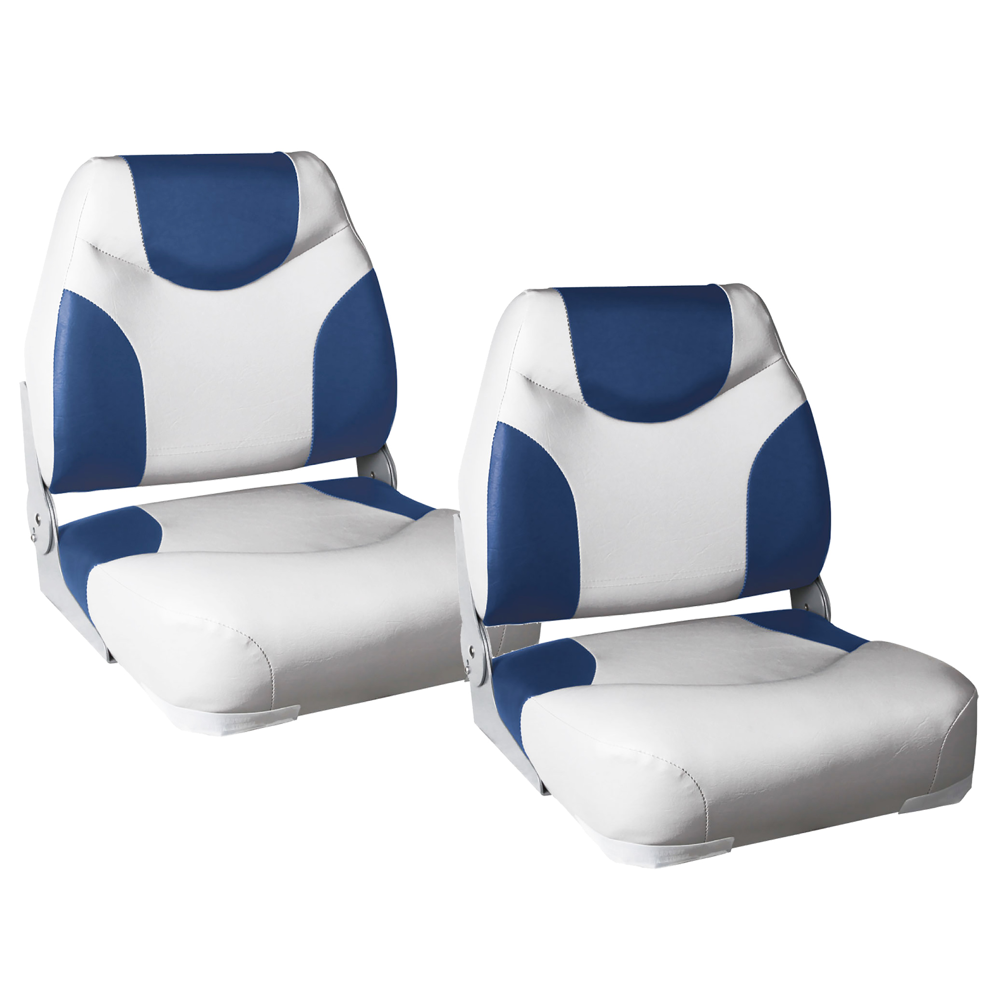 Boat Seat Stool : Boat seat quot exclusive blue white imitation leather