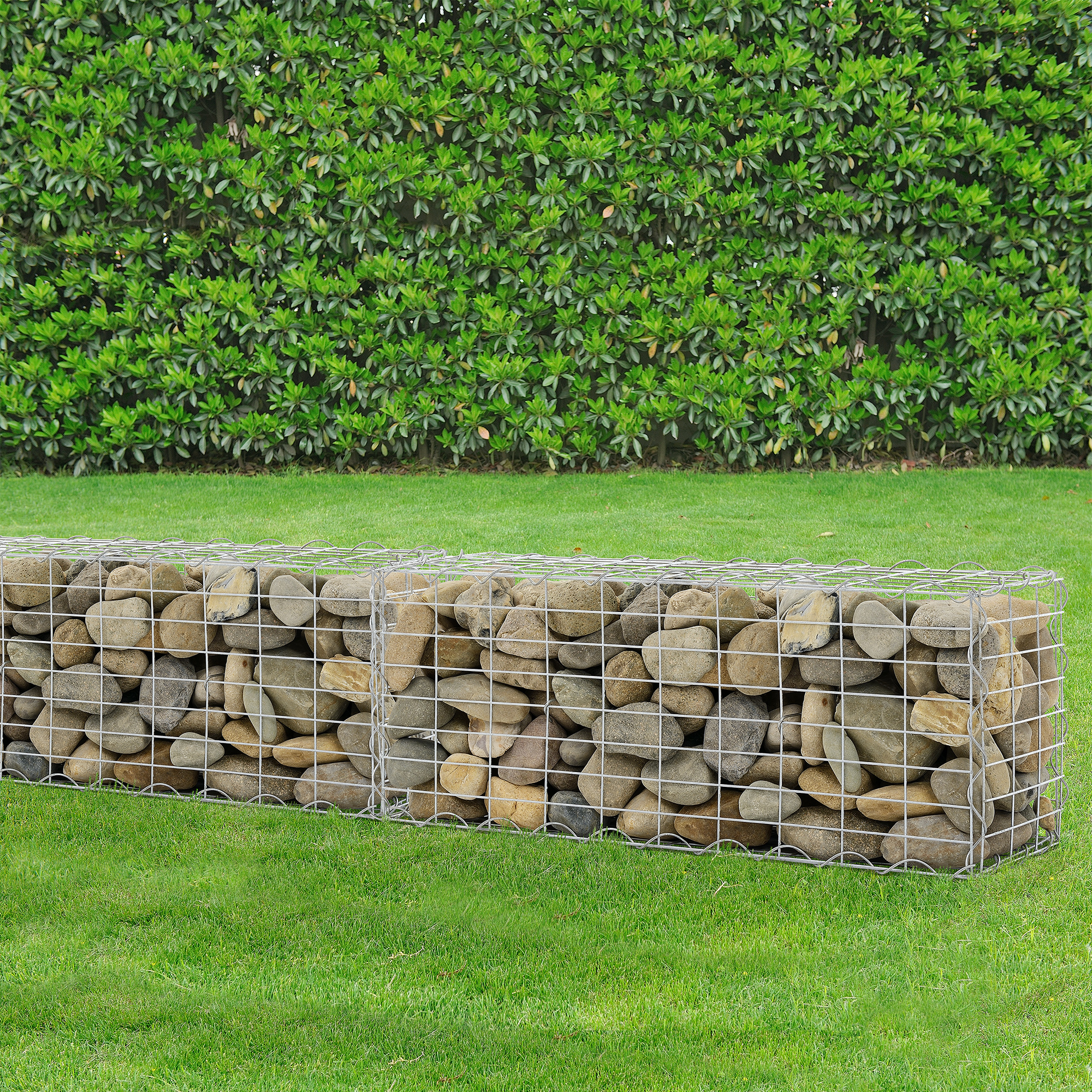 Gabion 100x40x30 Cm Stone Basket Wall Wire Bench Ebay