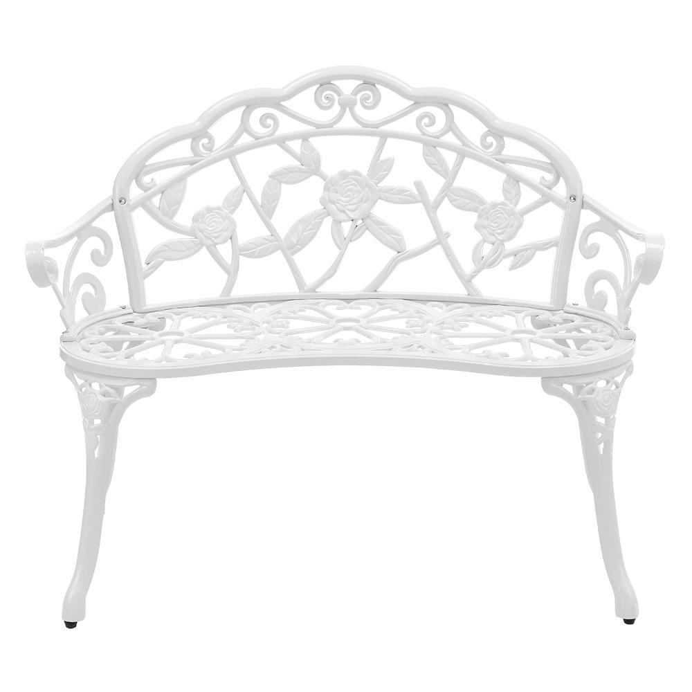 tisch 2 st hle bank antik weiss gr n bistro set garten sitzgarnitur alu guss ebay. Black Bedroom Furniture Sets. Home Design Ideas
