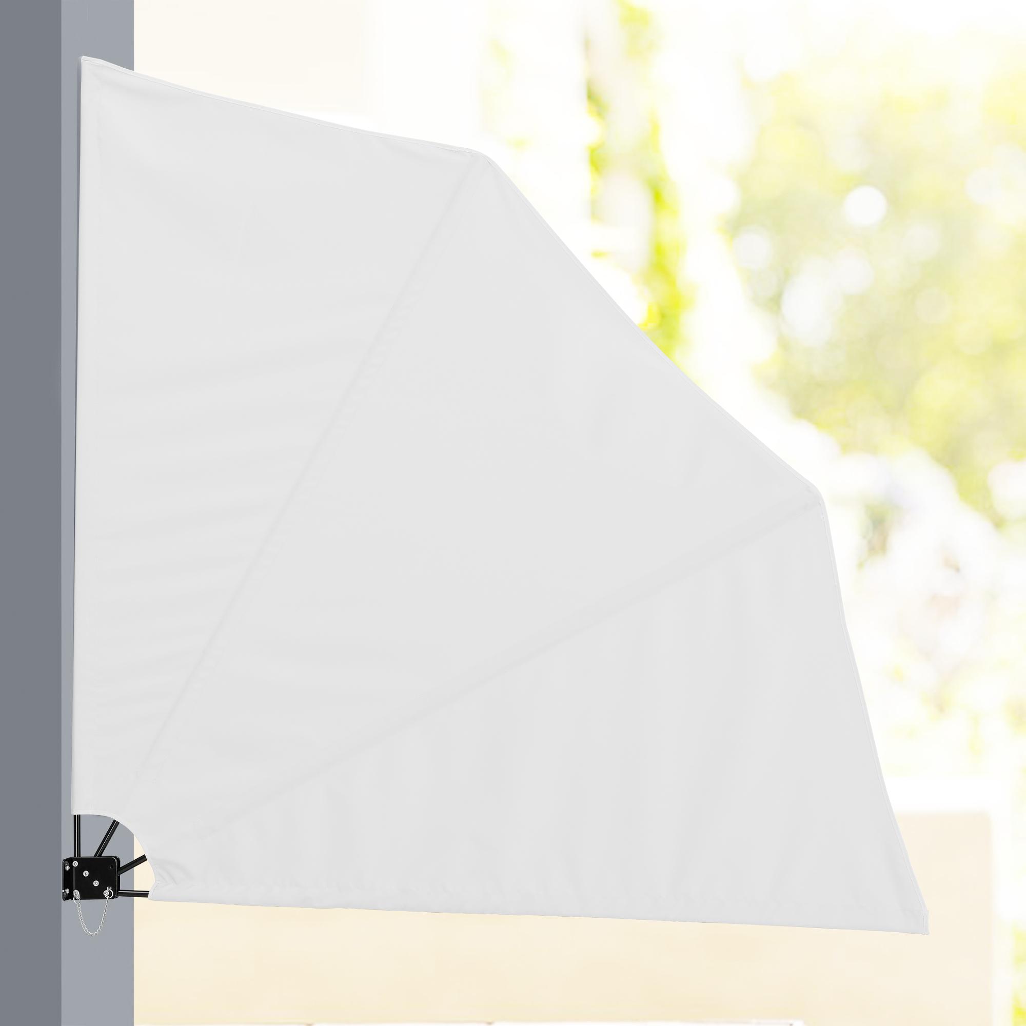 Eventail pour balcon brise vue gris beige - Brise vue eventail ...