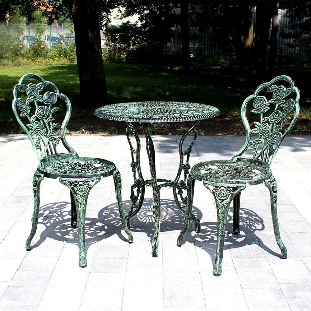 Gartenmobel Alu Anthrazit :  BENCH ANTIQUE WHITE GREEN BISTRO SET GARDEN SOFA ALUMINIUM CAST  eBay