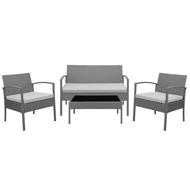 casa pro poly rattan sitzgruppe rattanm bel trend garten garnitur set essgruppe ebay. Black Bedroom Furniture Sets. Home Design Ideas