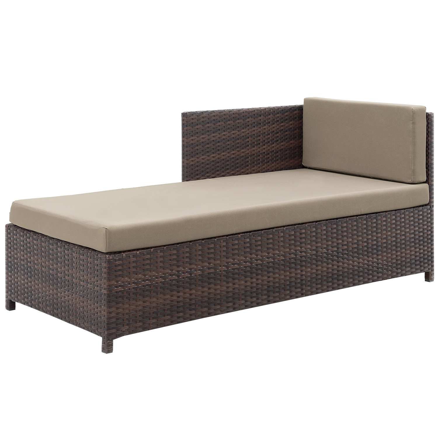 CASA.PRO® POLY RATTAN Lounge Corner Sofa + Table Garden ...