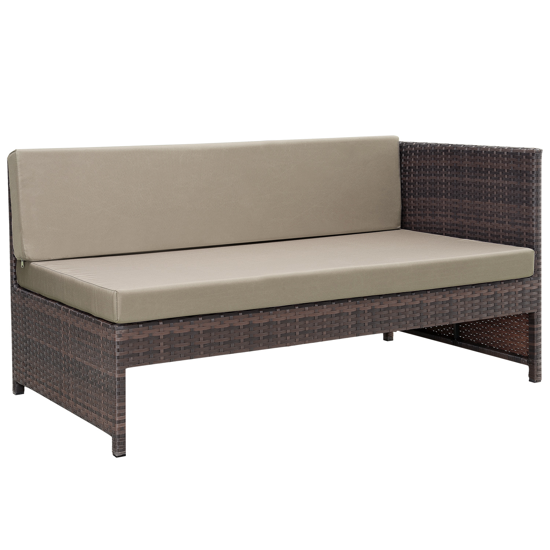 rattan couch garten 17 best ideas about polyrattan sofa. Black Bedroom Furniture Sets. Home Design Ideas