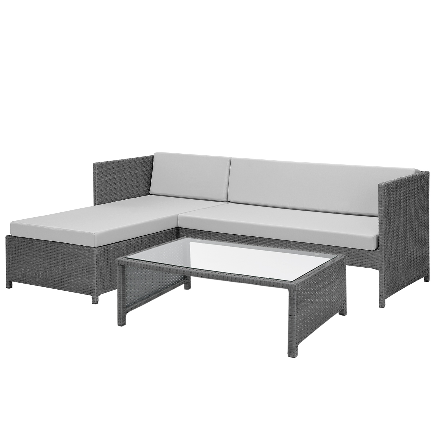 casa pro poly rattan lounge corner sofa table garden set polyrattan furniture ebay