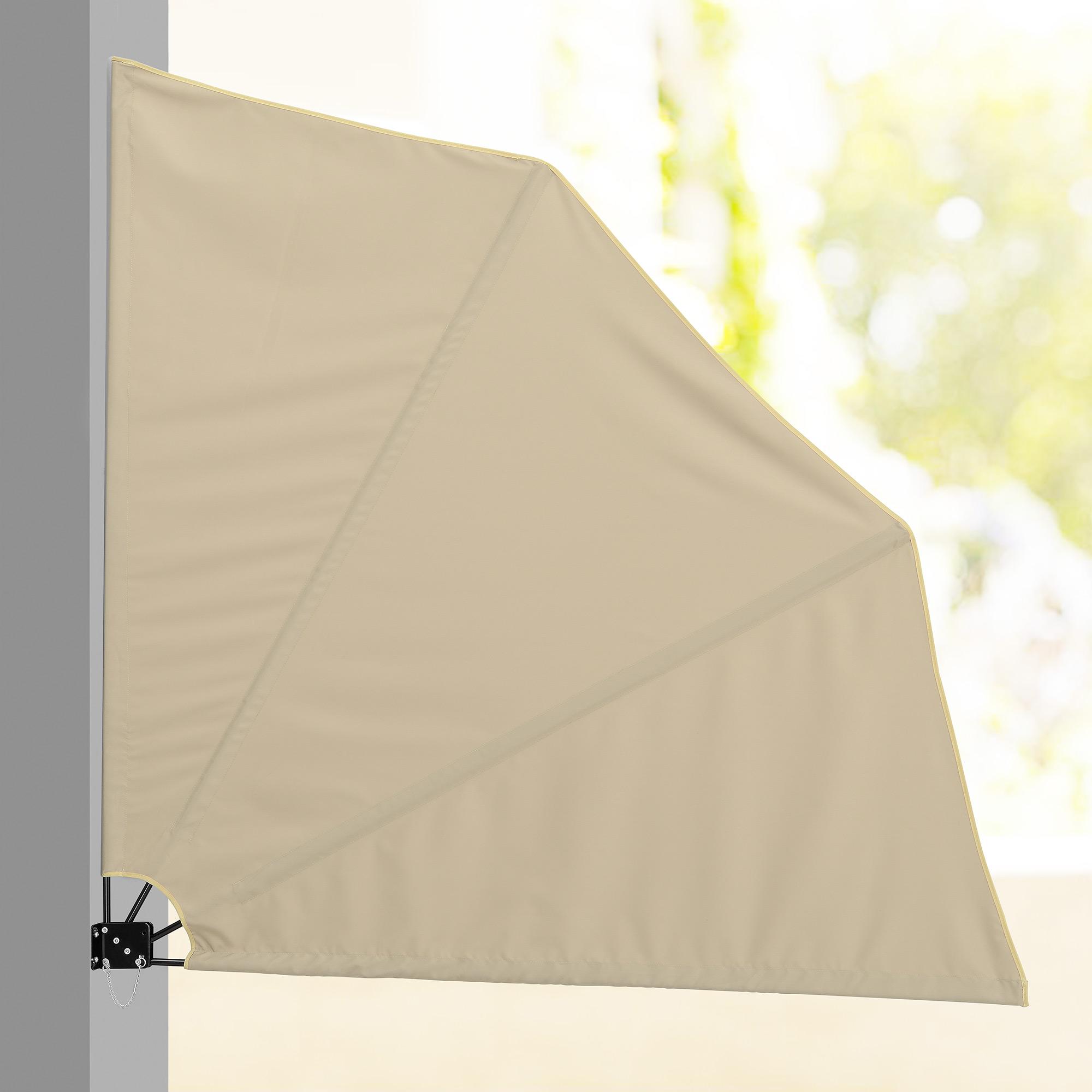 balkonf cher sichtschutz grau beige markise balkon sonnen wind schutz ebay. Black Bedroom Furniture Sets. Home Design Ideas