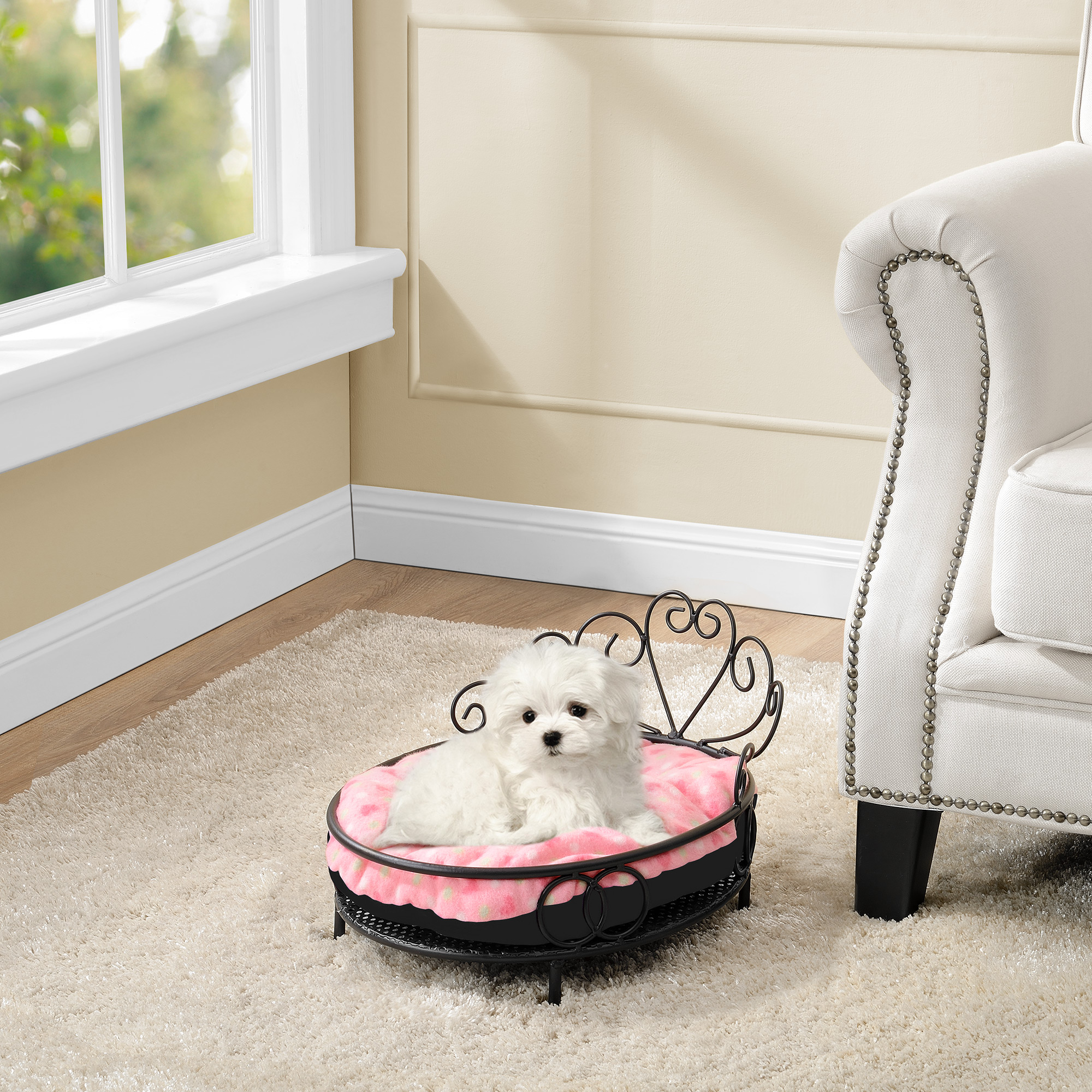 neu haus lit pour chien et chats coussin panier m tal. Black Bedroom Furniture Sets. Home Design Ideas