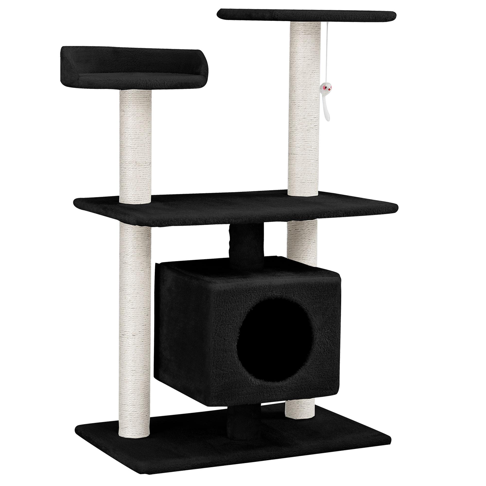 kratzbaum grau deckenhoch kletterbaum katzen baum katzenkratzbaum ebay. Black Bedroom Furniture Sets. Home Design Ideas