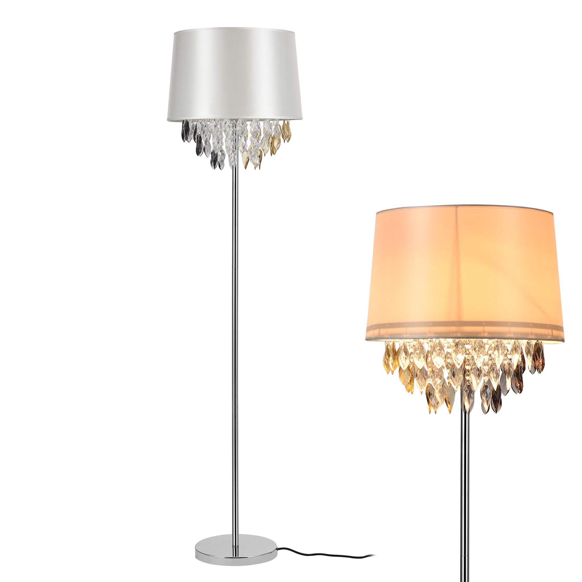 stehleuchte stehlampe design lampe leuchte standleuchte chrom boden ebay. Black Bedroom Furniture Sets. Home Design Ideas