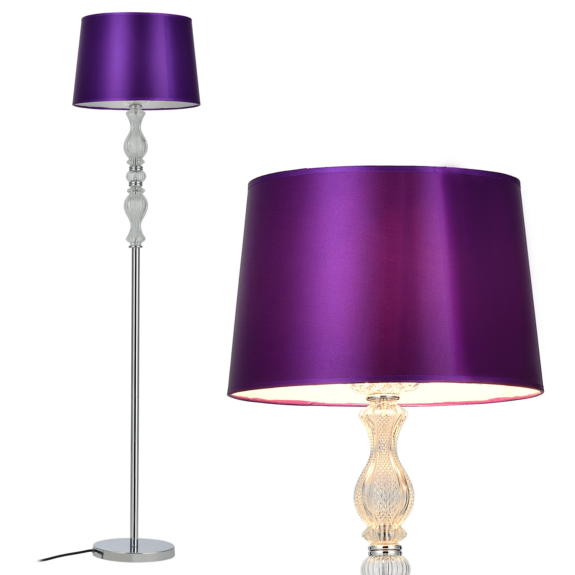 stehleuchte stehlampe design lampe leuchte standleuchte chrom boden ebay. Black Bedroom Furniture Sets. Home Design Ideas