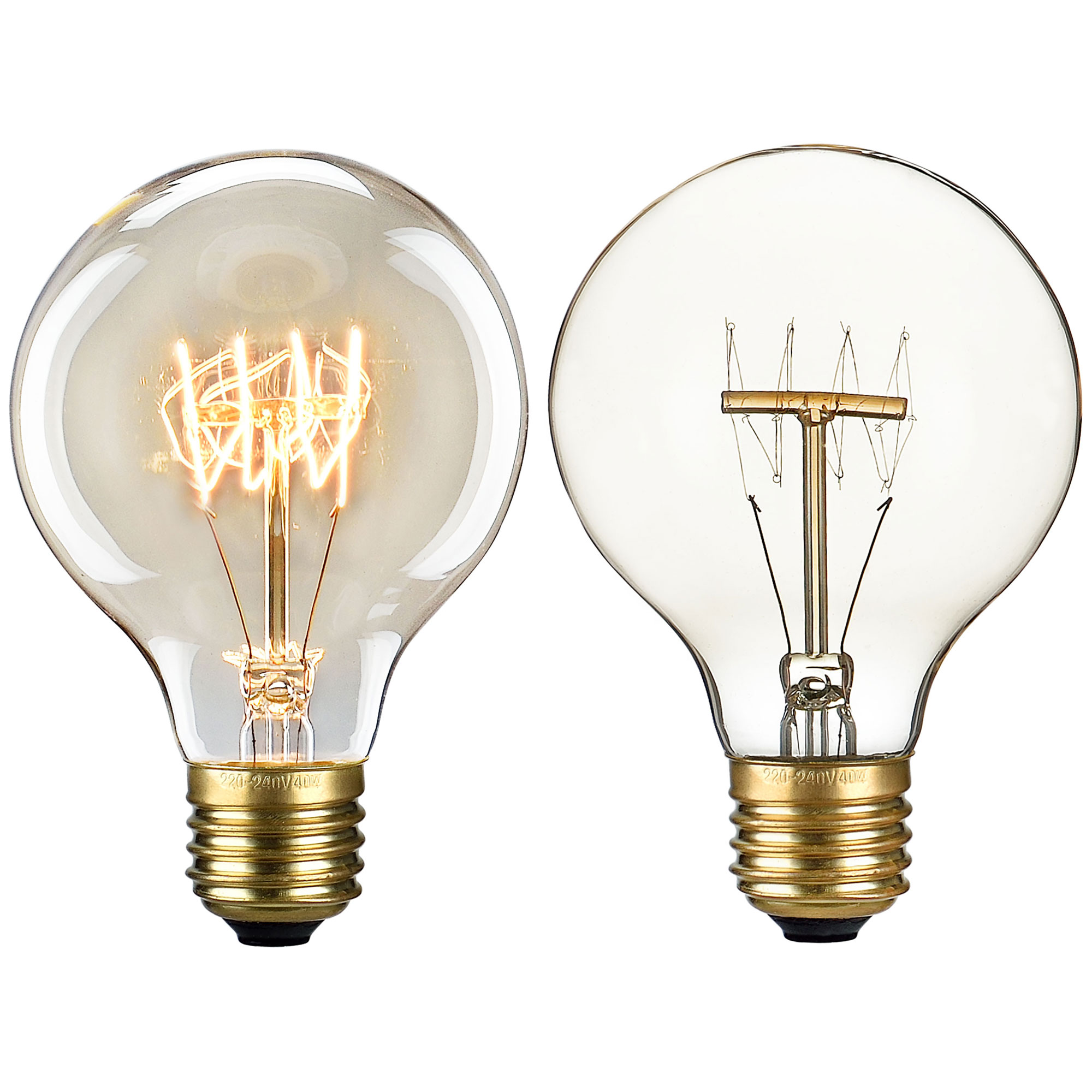 1x e27 e14 vintage gl hlampe gl hbirne lampe retro edison birne ebay. Black Bedroom Furniture Sets. Home Design Ideas