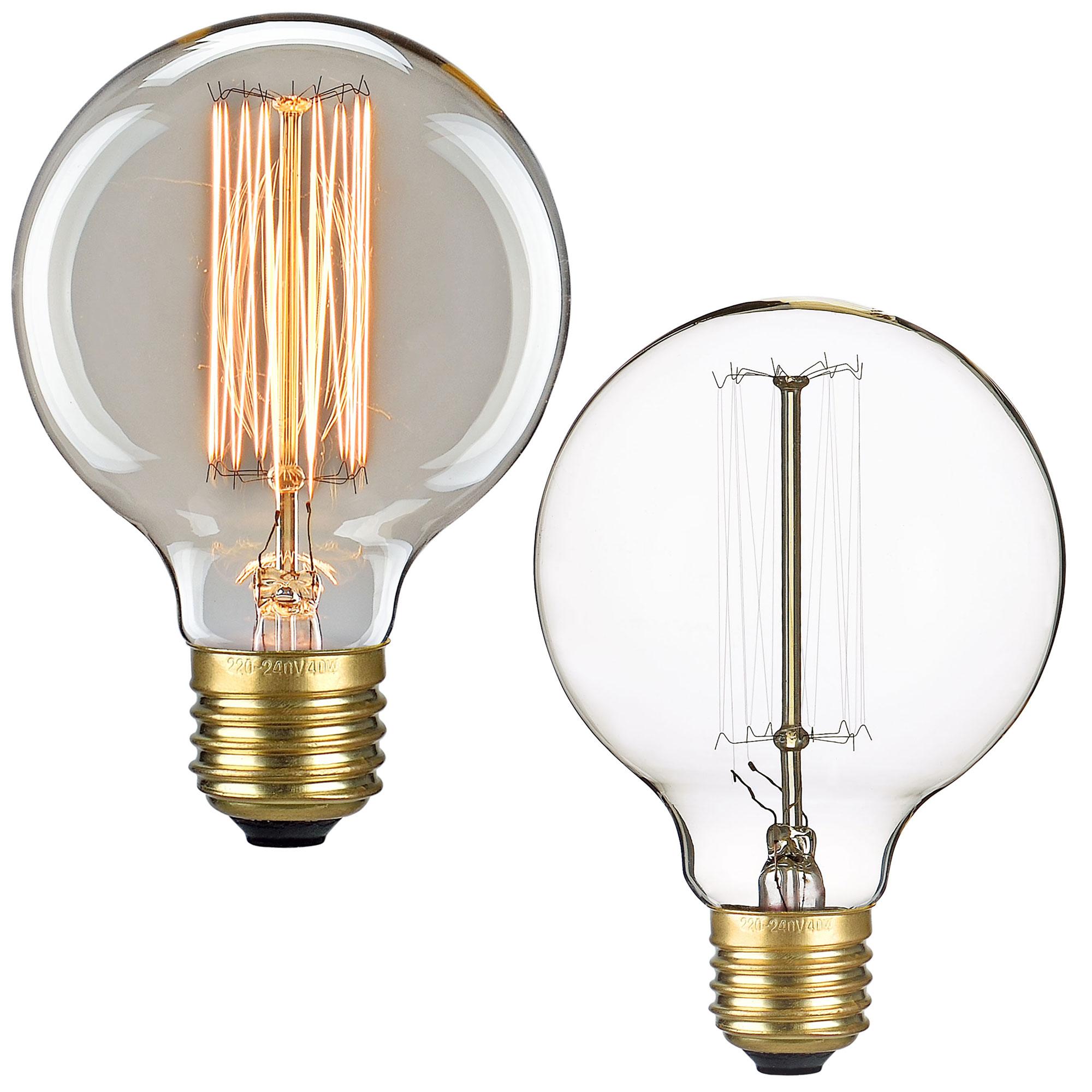 1x e27 e14 vintage gl hlampe gl hbirne lampe retro edison birne ebay. Black Bedroom Furniture Sets. Home Design Ideas