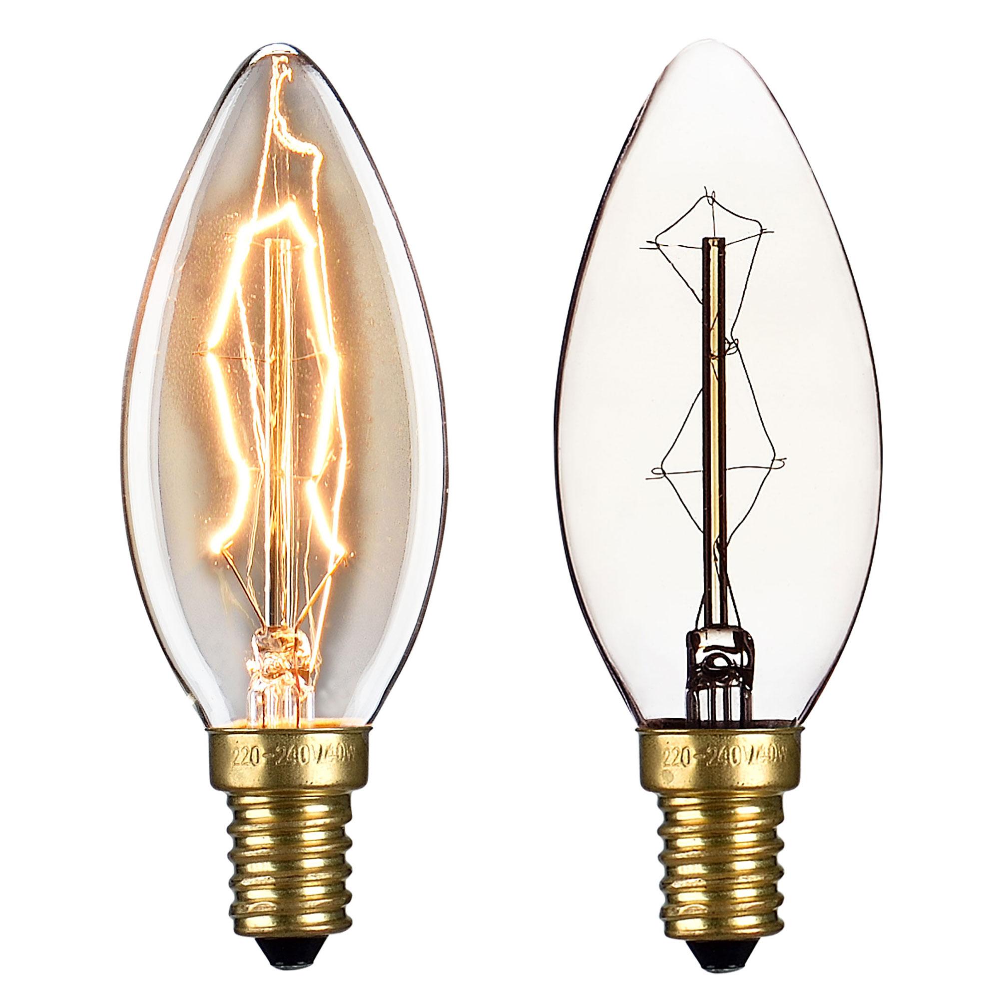 1x e27 e14 vintage gl hlampe gl hbirne lampe. Black Bedroom Furniture Sets. Home Design Ideas