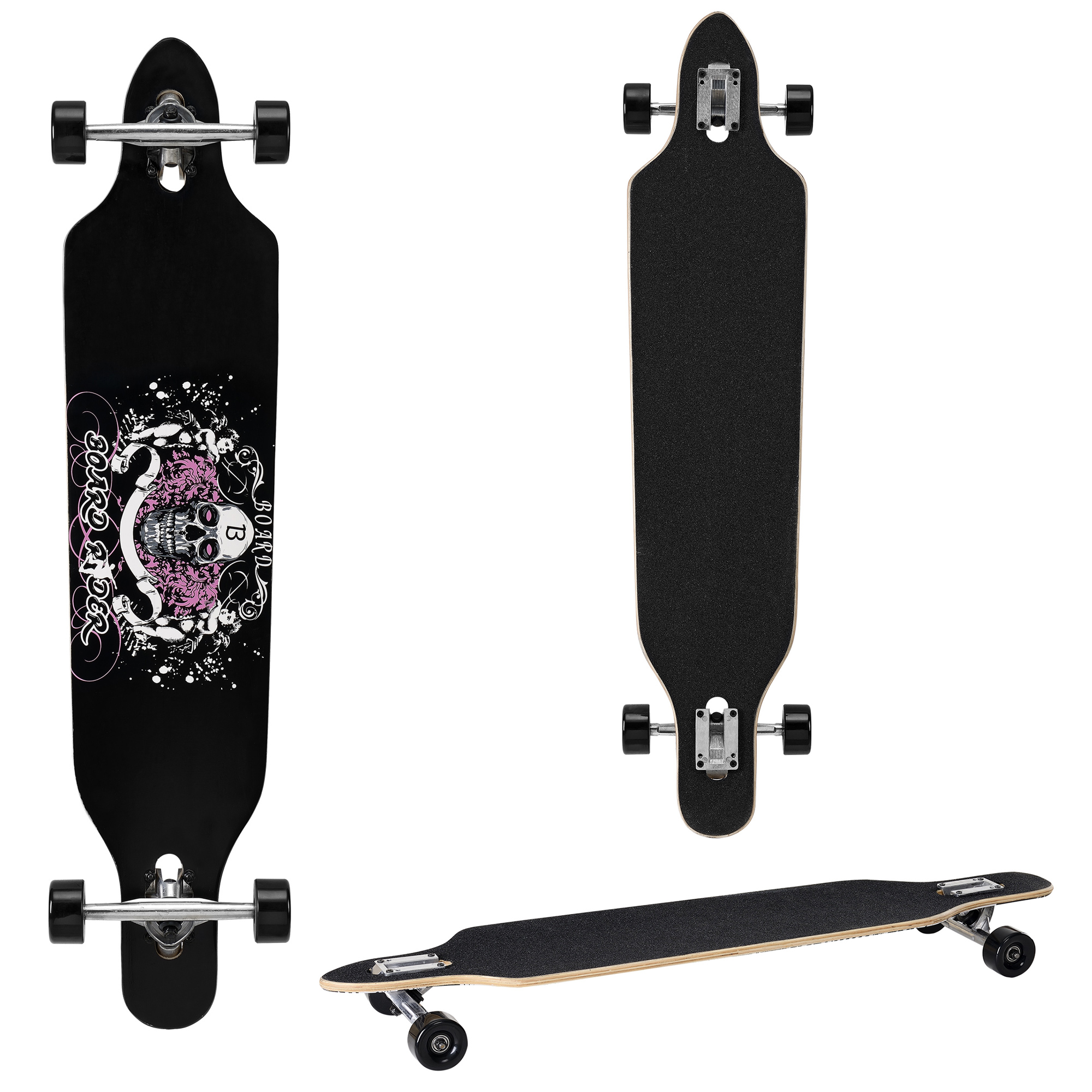 protec longboard skateboard 104x23cm drop through komplett board cruiser sport. Black Bedroom Furniture Sets. Home Design Ideas