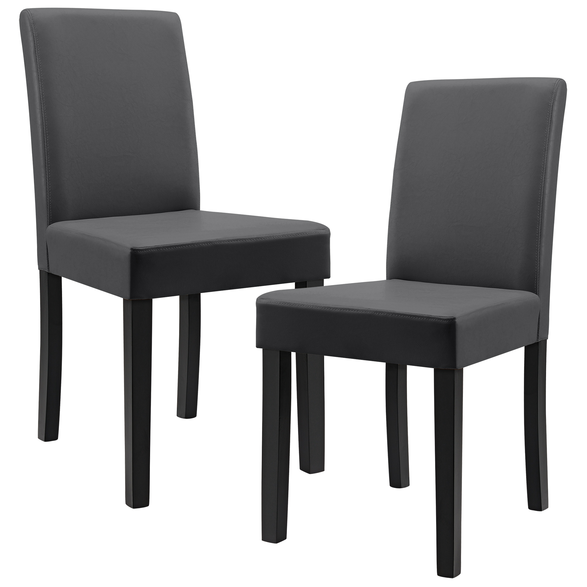 2x esszimmer st hle kunst leder polster stuhl hochlehner w hlbar ebay. Black Bedroom Furniture Sets. Home Design Ideas