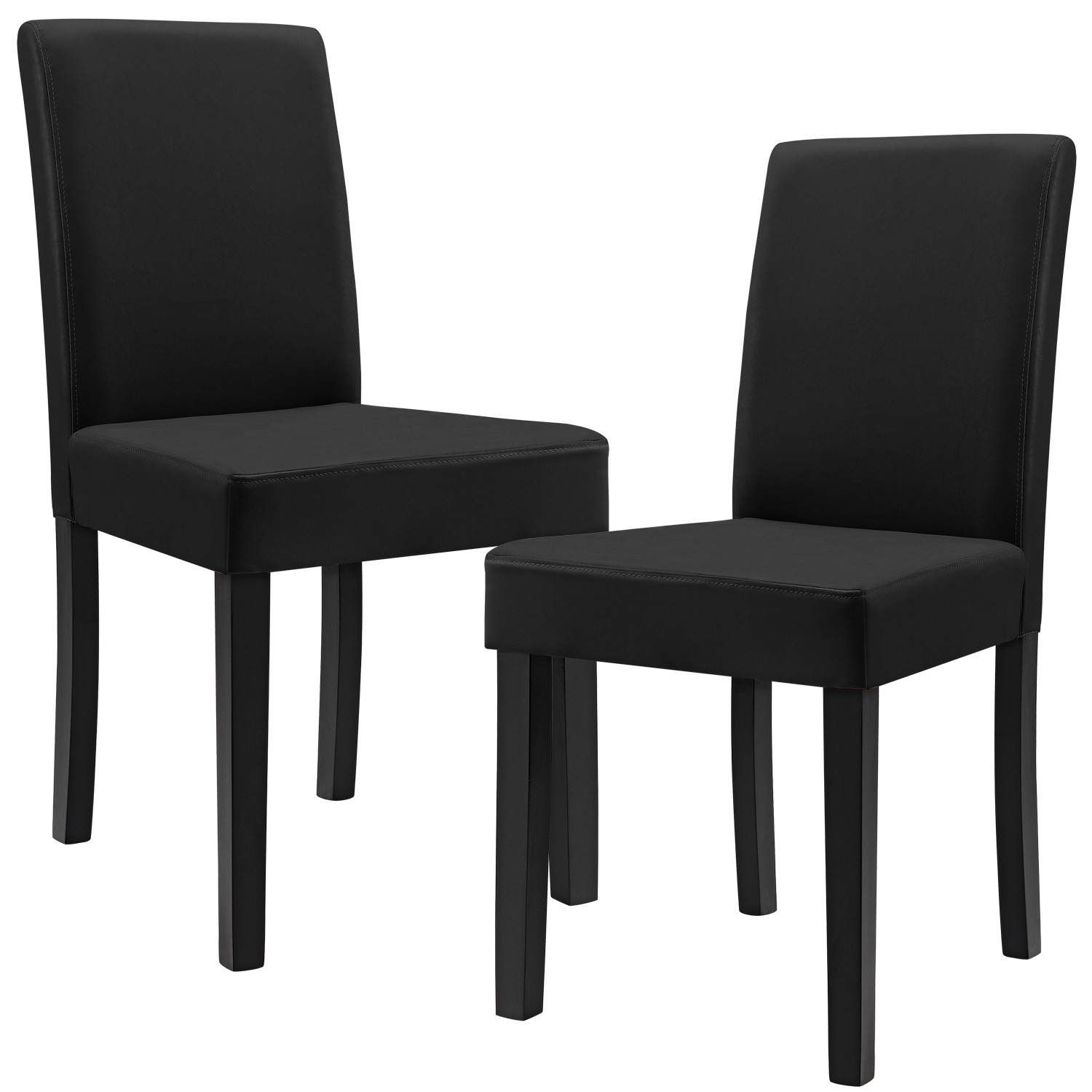 2x moderne esszimmer st hle kunst leder polster stuhl hochlehner ebay. Black Bedroom Furniture Sets. Home Design Ideas