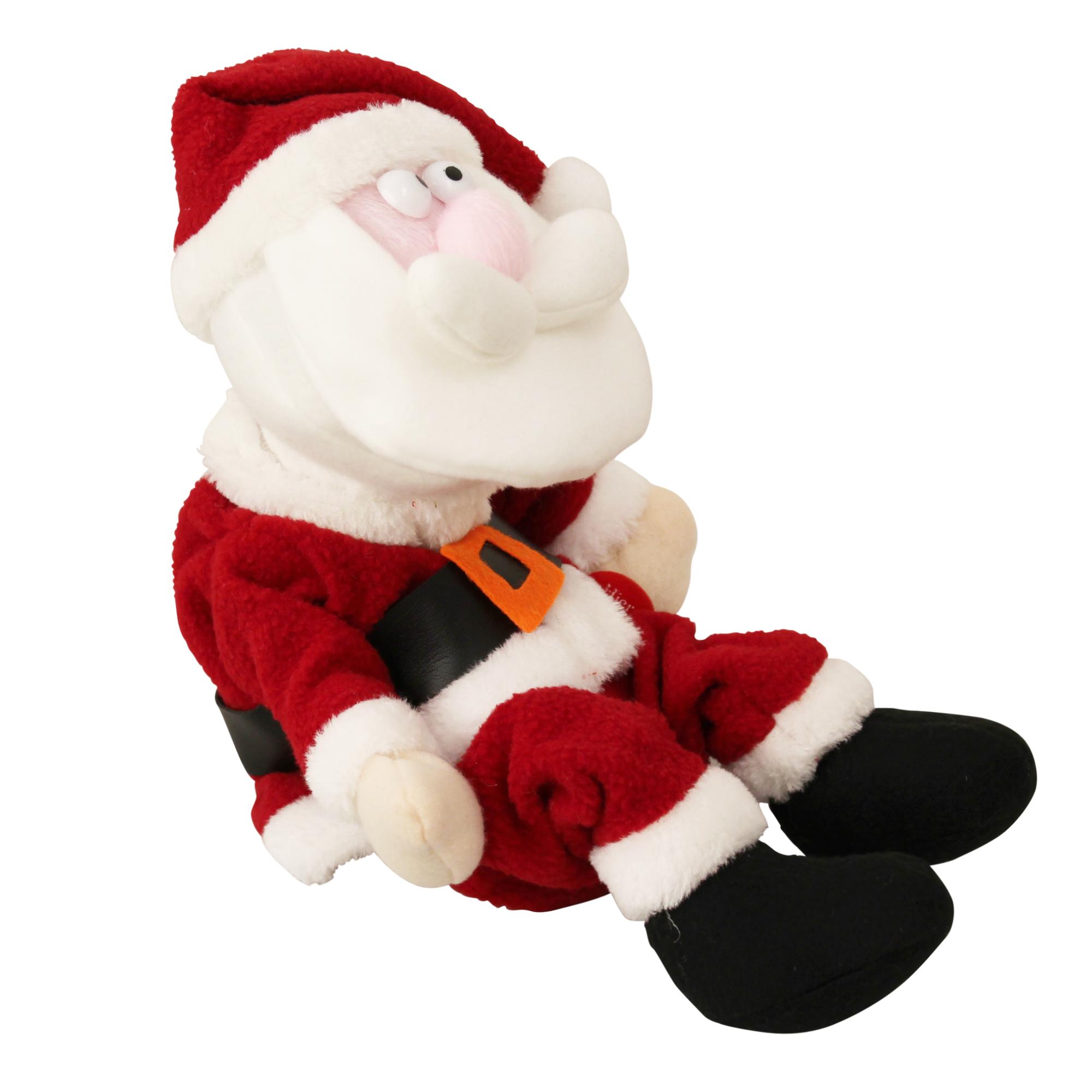 singender weihnachtsmann tanzend deko elch weihnachten baum nikolaus ebay. Black Bedroom Furniture Sets. Home Design Ideas