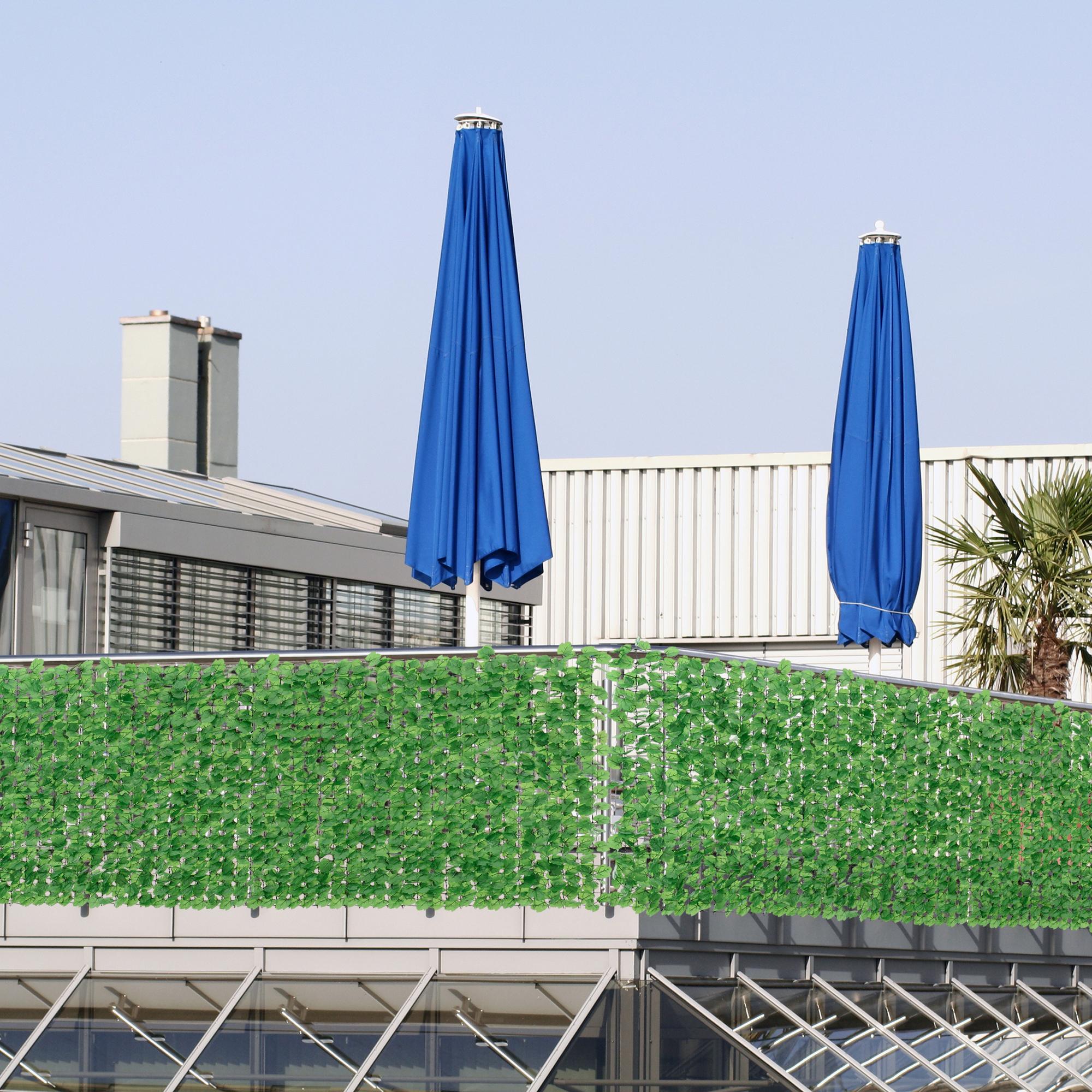 Kunststoff Sichtschutz Milchglas : Sichtschutz Grun Kunststoff  Detalles de [nuevo casa] ® hojas valla