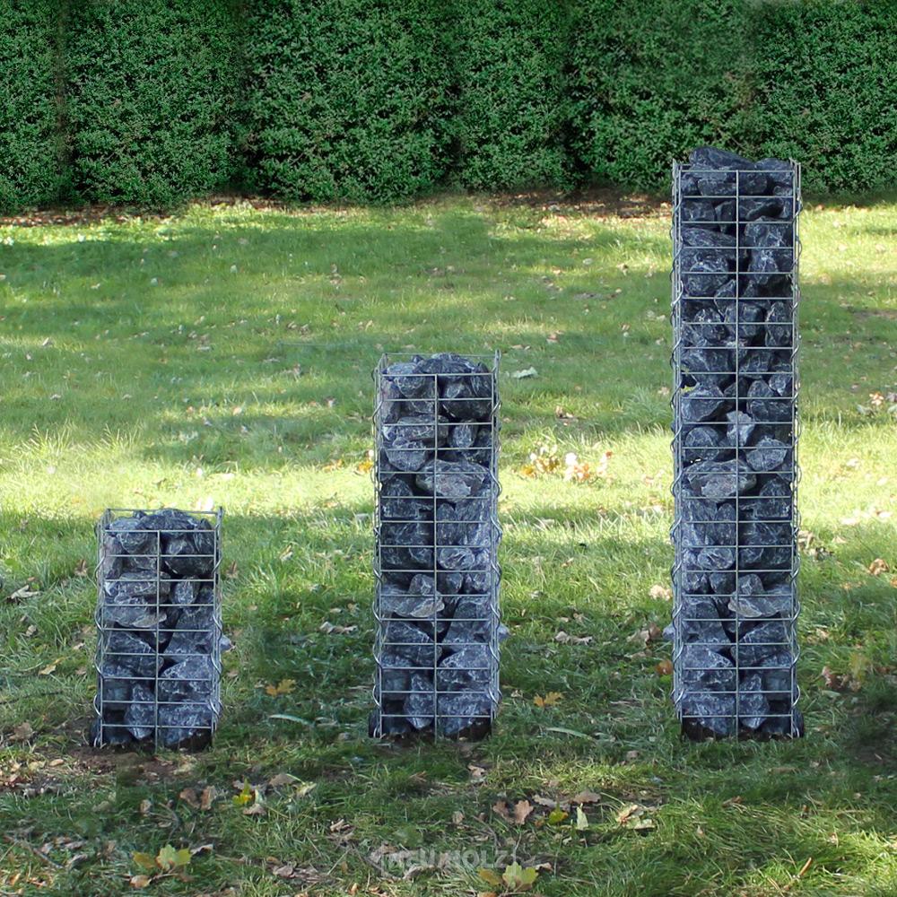 gabion pillar pergone stone basket wall wire ebay. Black Bedroom Furniture Sets. Home Design Ideas