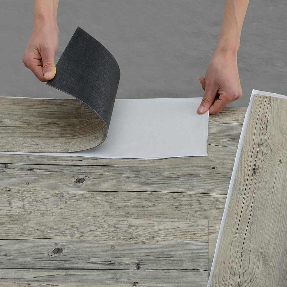 1m vinyl laminate self adhesive textured matte flooring planks floor ebay. Black Bedroom Furniture Sets. Home Design Ideas